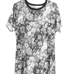 Maxi Dress M Black & White Design